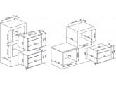 Встраиваемый духовой шкаф, 59,7 см, Белый Smeg SF4102MB