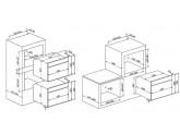 Компактный духовой шкаф, комбинированный с микроволновой печью, 60 см, Чёрный Smeg SF4102MCN