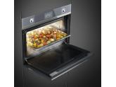 Компактный духовой шкаф, комбинированный с пароваркой, 60 см, Серебристый Smeg SF4102VCS