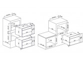 Встраиваемый духовой шкаф, 59,7 см, Серебристый Smeg SF4104MCS