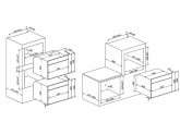 Встраиваемая микроволновая печь, 60 см, Кремовый Smeg SF4800MPO