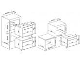 Компактный духовой шкаф, комбинированный с микроволновой печью, 45 см, Чёрный Smeg SF4920MCN1