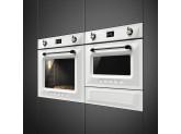 Компактный духовой шкаф, комбинированный с пароваркой, 60 см, Белый Smeg SF4920VCB1