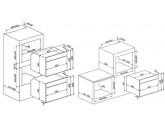 Компактный духовой шкаф, комбинированный с пароваркой, 60 см, Кремовый Smeg SF4920VCP1
