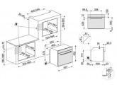 Многофункциональный духовой шкаф, 60 см, Чёрный Smeg SF64M3VN