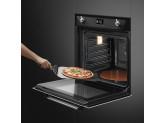 Многофункциональный духовой шкаф с функцией пиролиза, 60 см, Чёрный Smeg SFP6925NPZE1