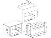 Многофункциональный духовой шкаф с пиролизом, 90 см, Чёрный Smeg SFPR9604NX