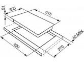 Индукционная варочная панель, 30 см, Чёрный Smeg SI5322B