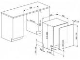 Полностью встраиваемая посудомоечная машина, 60 см, Серебристый Smeg ST321-1