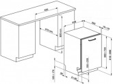 Полностью встраиваемая посудомоечная машина, 45 см, Серебристый Smeg STA4507