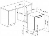Полностью встраиваемая посудомоечная машина, 60 см, Серебристый Smeg STA 6445-2