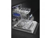 Полностью встраиваемая посудомоечная машина, 60 см, Чёрный Smeg STL7235L