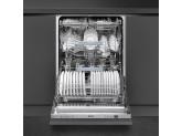 Полностью встраиваемая посудомоечная машина, 60 см, Серебристый Smeg STP364S