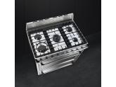 Отдельностоящий варочный центр, 90х60 см, Нержавеющая сталь Smeg TR90X9