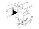 Встраиваемый холодильник под столешницу, 60 см, Белый Smeg UD7122CSP