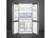 Отдельностоящий 4-х дверный холодильник Side-by-Side, Нержавеющая сталь Smeg FQ60XDF