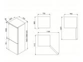 Отдельностоящий холодильник, 70 см, Кремовый Smeg FA8003PS