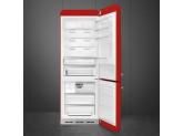 Отдельностоящий двухдверный холодильник, стиль 50-х годов, 70 см, Красный Smeg FAB38RRD5