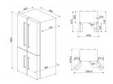 Отдельностоящий 4-х дверный холодильник Side-by-Side, Чёрный Smeg FQ60NDF