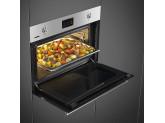 Компактный духовой шкаф, комбинированный с пароваркой, 60 см, Нержавеющая сталь Smeg SF4303WVCPX