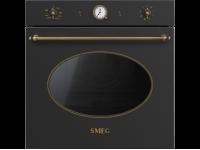 Многофункциональный духовой шкаф с функцией пиролиза, 60 см, Антрацит Smeg SFP805AO