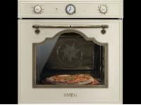 Многофункциональный духовой шкаф с функцией пиролиза и функцией пицца, 60 см, Кремовый Smeg SFP750POPZ