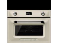 Компактный духовой шкаф, комбинированный с микроволновой печью, 45 см, Кремовый Smeg SF4920MCP