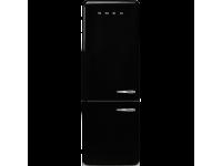 Отдельностоящий двухдверный холодильник, стиль 50-х годов, 70 см, Чёрный Smeg FAB38LBL