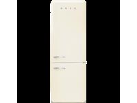 Отдельностоящий двухдверный холодильник, стиль 50-х годов, 70 см, Кремовый Smeg FAB38RCR