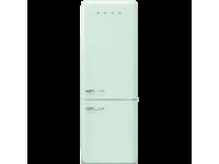 Отдельностоящий двухдверный холодильник, стиль 50-х годов, 70 см, Светло-зеленый Smeg FAB38RPG