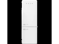 Отдельностоящий двухдверный холодильник, стиль 50-х годов, 70 см, Белый Smeg FAB38RWH