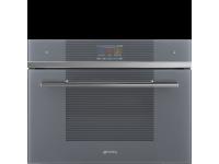 Компактный духовой шкаф, комбинированный с микроволновой печью, 60 см, Серебристый Smeg SF4104WMCS