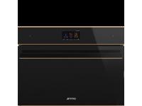 Компактный духовой шкаф, комбинированный с пароваркой, 60 см, Чёрный Smeg SF4604WVCPNR