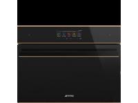 Компактный духовой шкаф, комбинированный с микроволновой печью, 60 см, Чёрный Smeg SF4606WMCNR