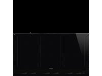 Индукционная варочная панель, 90 см, Чёрный Smeg SIM1963D