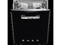 Встраиваемая посудомоечная машина, Стиль 50-х, 60 см, Чёрный Smeg ST2FABBL2