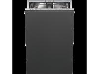 Полностью встраиваемая посудомоечная машина, 45 см, Серебристый Smeg STA4523IN