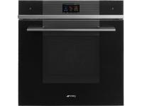 Многофункциональный духовой шкаф с функцией пиролиза, 60 см, Чёрный Smeg SFP6104WTPN