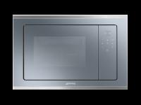 Встраиваемая микроволновая печь, 60 см, Серебристо-голубой Smeg FMI420S2