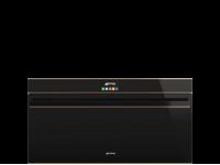 Многофункциональный духовой шкаф с пиролизом, 90 см, Чёрный Smeg SFPR9604NR