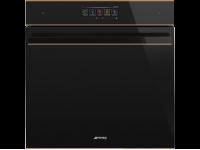 Многофункциональный духовой шкаф с функцией пароувлажнения, 60 см, Чёрный Smeg SFP6606WSPNR