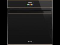 Многофункциональный духовой шкаф с функцией пароувлажнения, 60 см, Чёрный Smeg SFP6604STNR