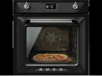 Многофункциональный духовой шкаф с функцией пиролиза, 60 см, Чёрный Smeg SFP6925NPZ
