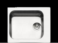 Мойка, Нержавеющая сталь матовая Smeg VS45-P3