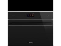 Компактный духовой шкаф, комбинированный с микроволновой печью, 60 см, Чёрный Smeg SF4604WMCNX