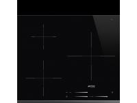 Индукционная варочная панель, 58 см, Чёрный Smeg SI7633B