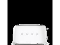 Тостер на 4 ломтика, Белый Smeg TSF02WHEU