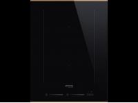 Индукционная варочная панель, 38 см, Чёрный Smeg SIM631WLDX