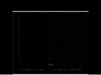 Индукционная варочная панель, 60 см, Чёрный Smeg SIM662WLDX