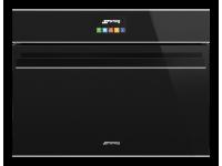 Компактный духовой шкаф, комбинированный с микроволновой печью, 60 см, Чёрный Smeg SF4604MCNX